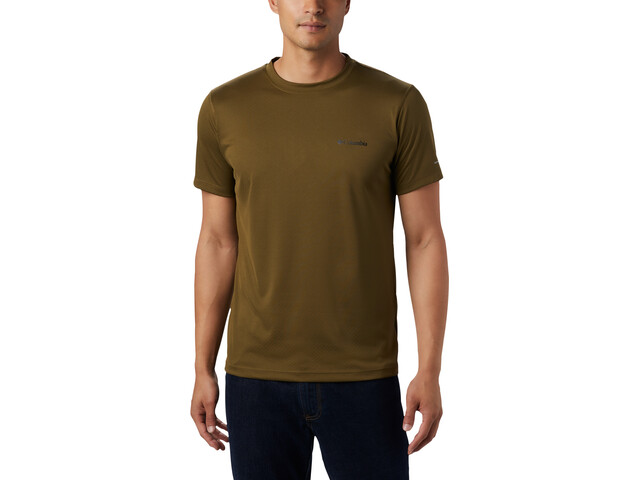 Columbia Zero Rules Camisa Manga Corta Hombre, new olive